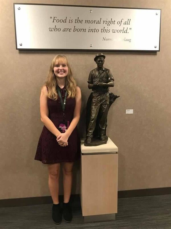 HHS Student Gives Presentation at World Food Prize Global Youth Institute
